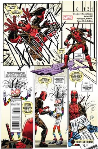 Deadpool #2 (Koblish Secret Comic Cover)