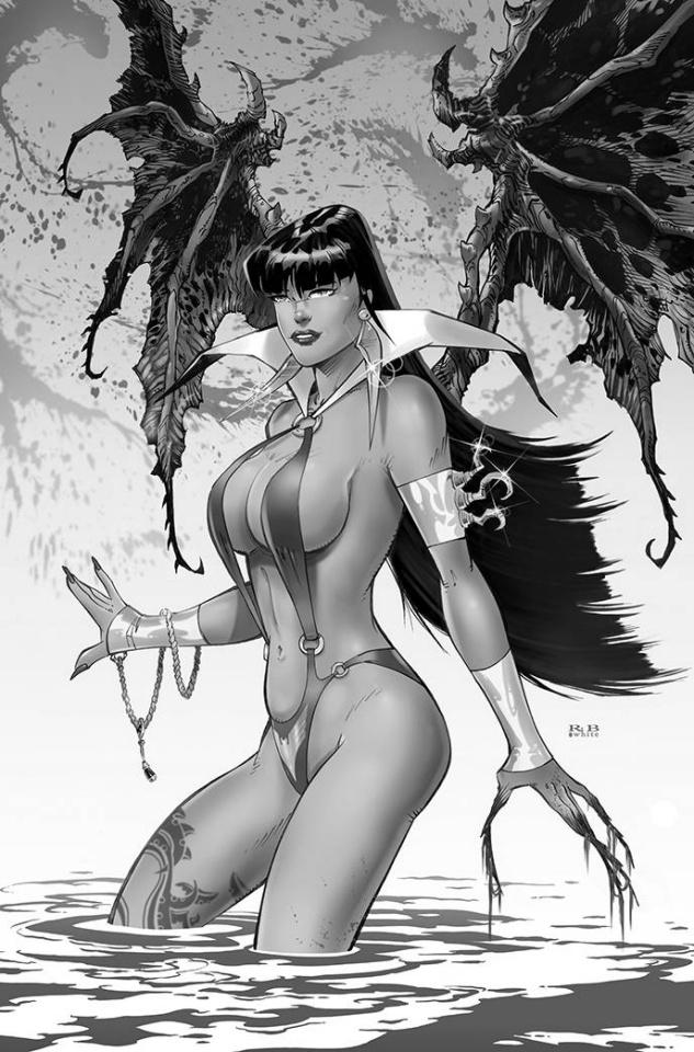 Vampirella #19 (15 Copy R.B. White B&W Virgin Cover)