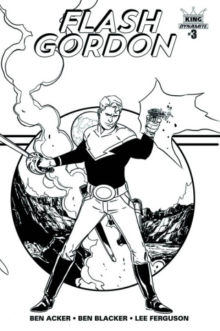 Flash Gordon #3 (25 Copy Laming B&W Cover)