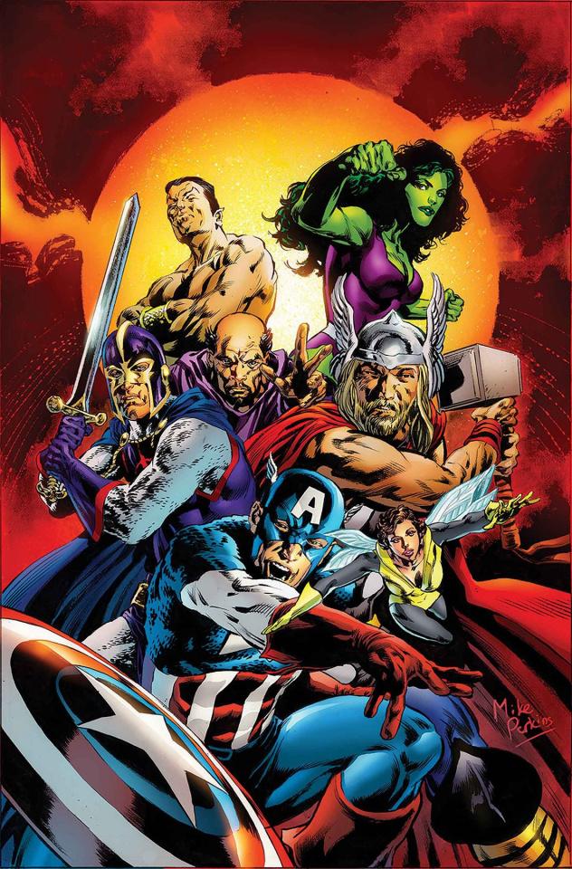 She-Hulk #161 (Perkins Avengers Cover)