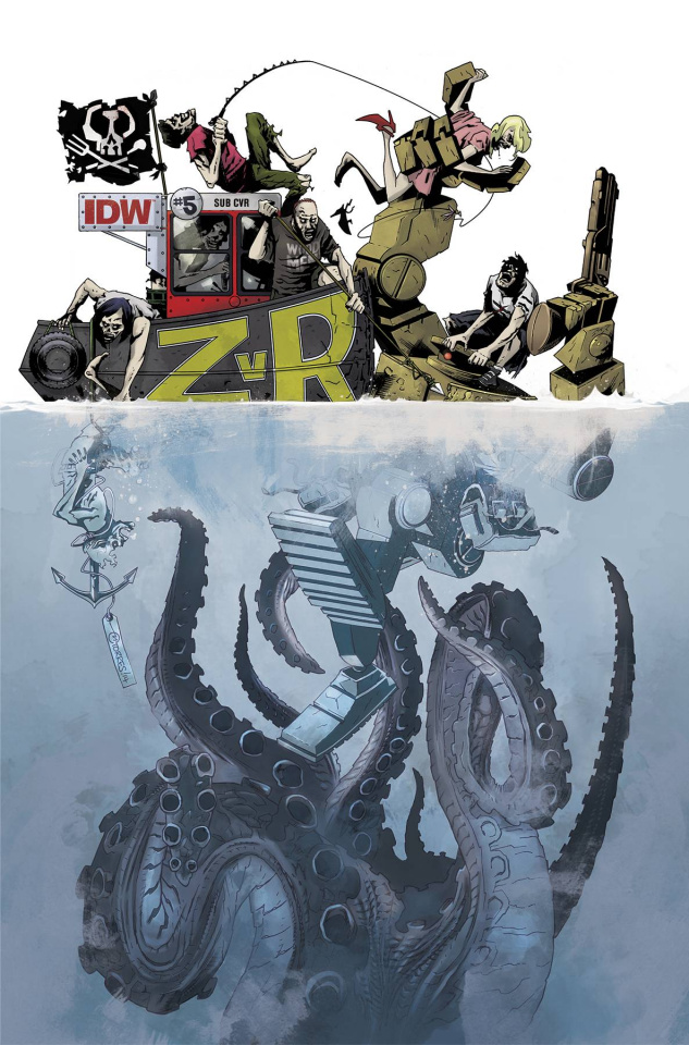 Zombies vs. Robots #5 (Subscription Cover)