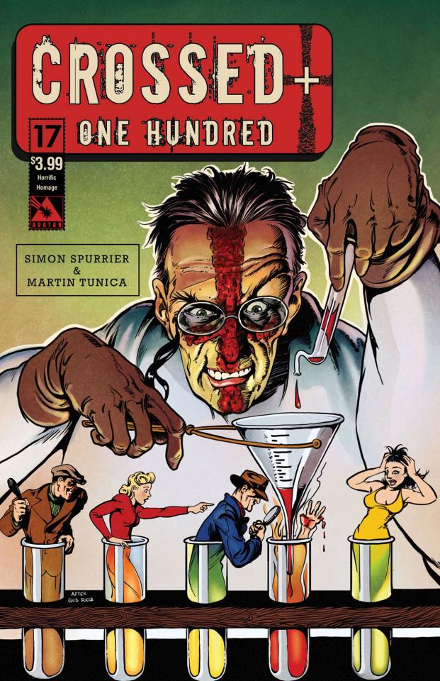 Crossed + One Hundred #17 (Horrific Homage Cover)