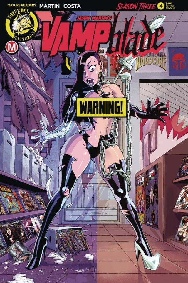 Vampblade, Season Three #4 (Winston Young Risque Cover)