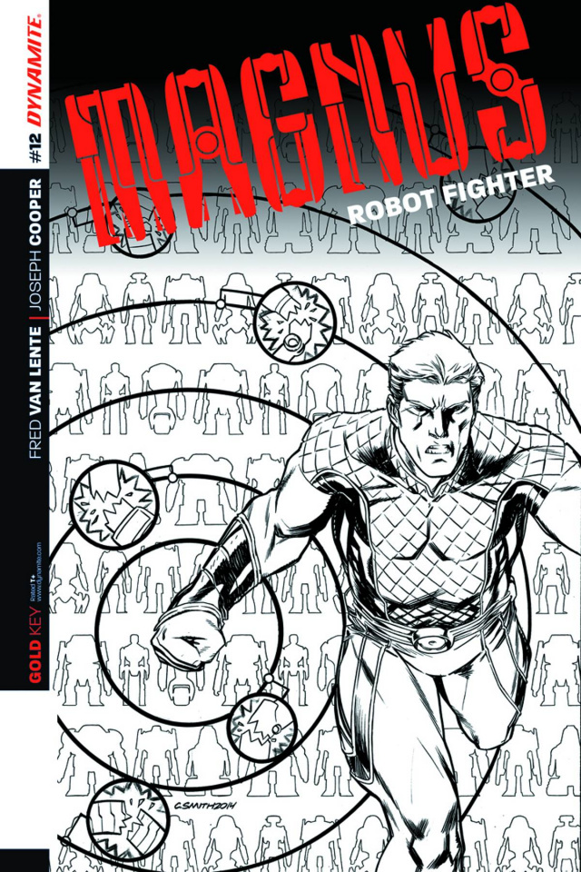 Magnus, Robot Fighter #12 (25 Copy Smith B&W Cover)