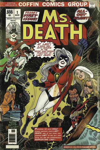 Lady Death: Sworn #1 (Ms. Death Damaged Cover)