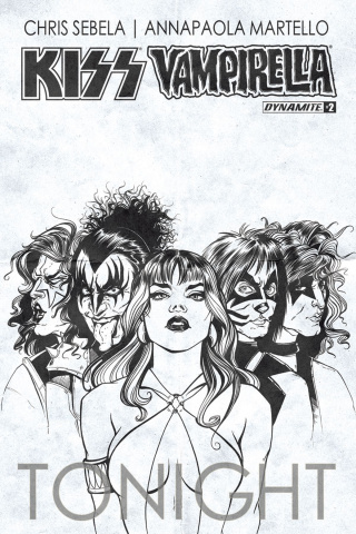 KISS / Vampirella #2 (10 Copy Ihde B&W Cover)