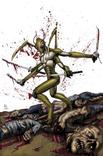 Aliens vs. Zombies #3 (Spay Cover)