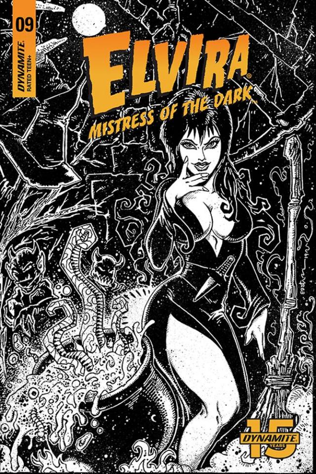 Elvira: Mistress of the Dark #9 (11 Copy Eastman B&W Cover)