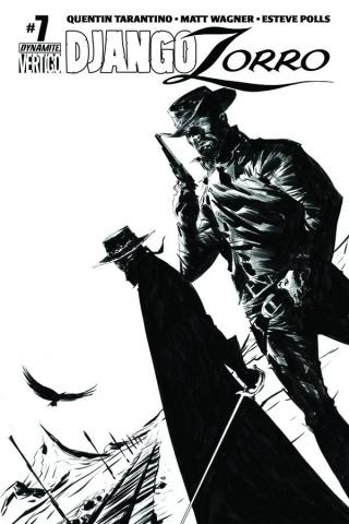 Django / Zorro #7 (25 Copy Lee B&W Cover)