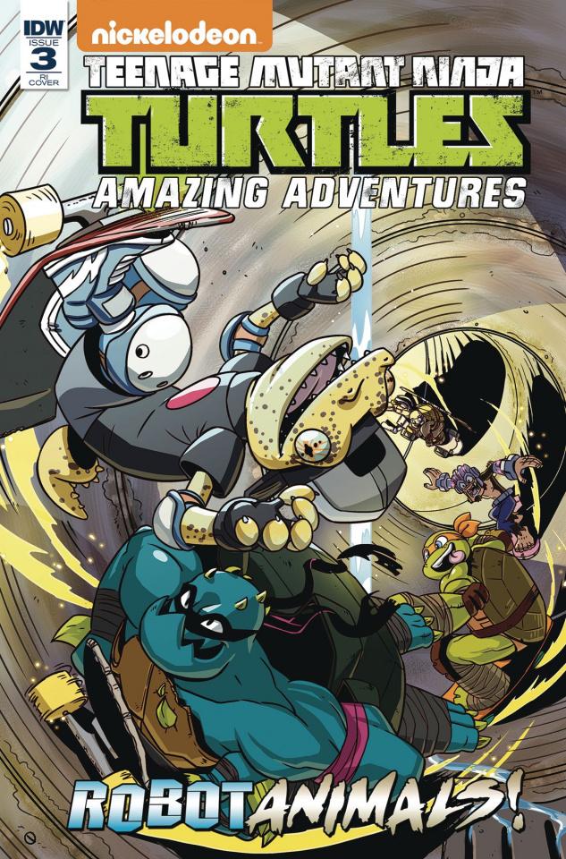 Teenage Mutant Ninja Turtles: Amazing Adventures - Robotanimals #3 (10 Copy Cover)
