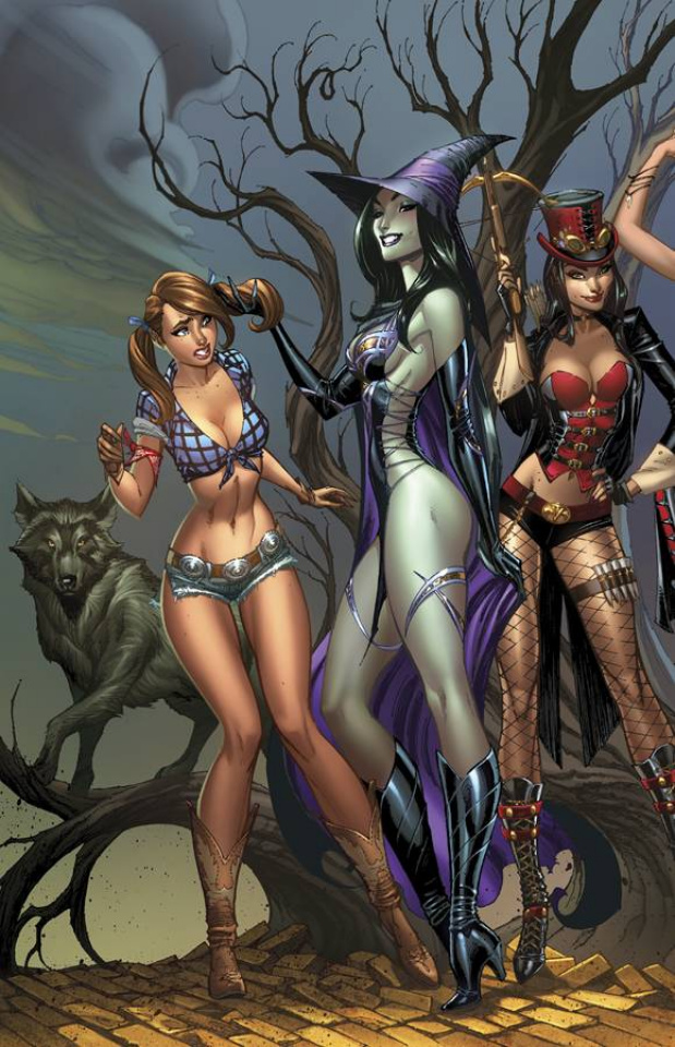 Grimm Fairy Tales: Oz - Age of Darkness (Campbell Cover)