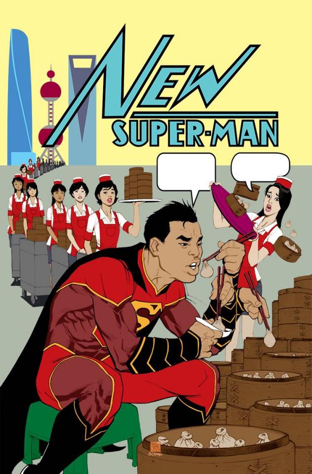 New Super-Man #6 (Variant Cover)