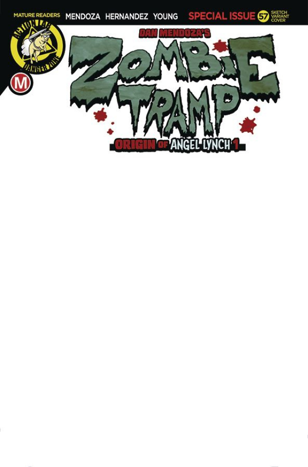 Zombie Tramp #57 (Blank Sketch Cover)