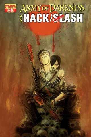 Army of Darkness vs. Hack/Slash #3 (Templesmith Cover)
