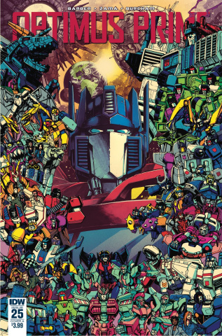 Optimus Prime #25 (Zama Cover)