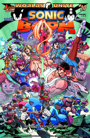 Sonic Boom #10 (Reilly Brown Cover)