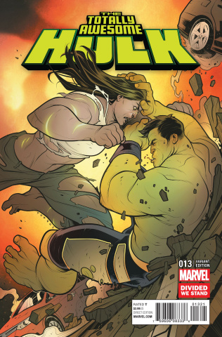 Totally Awesome Hulk #13 (Divided We Stand Cover)