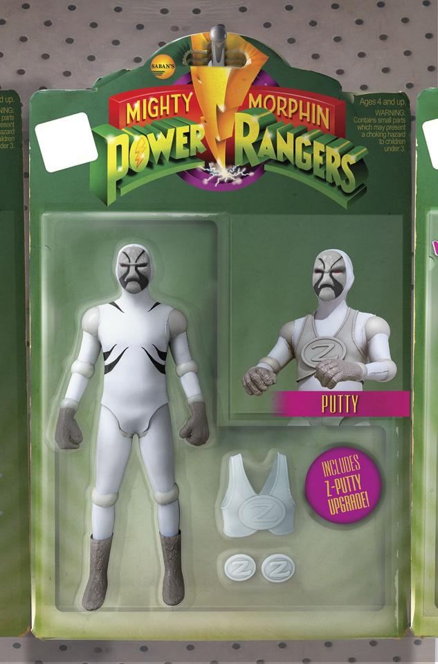 Mighty Morphin' Power Rangers #11 (Unlock Action Figure Cover)