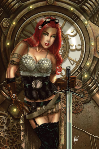 Legenderry: Red Sonja #1 (Rare Poulat Virgin Cover)