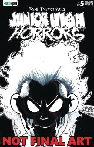 Junior High Horrors #5 (Glow in the Dark Retailer Cover)
