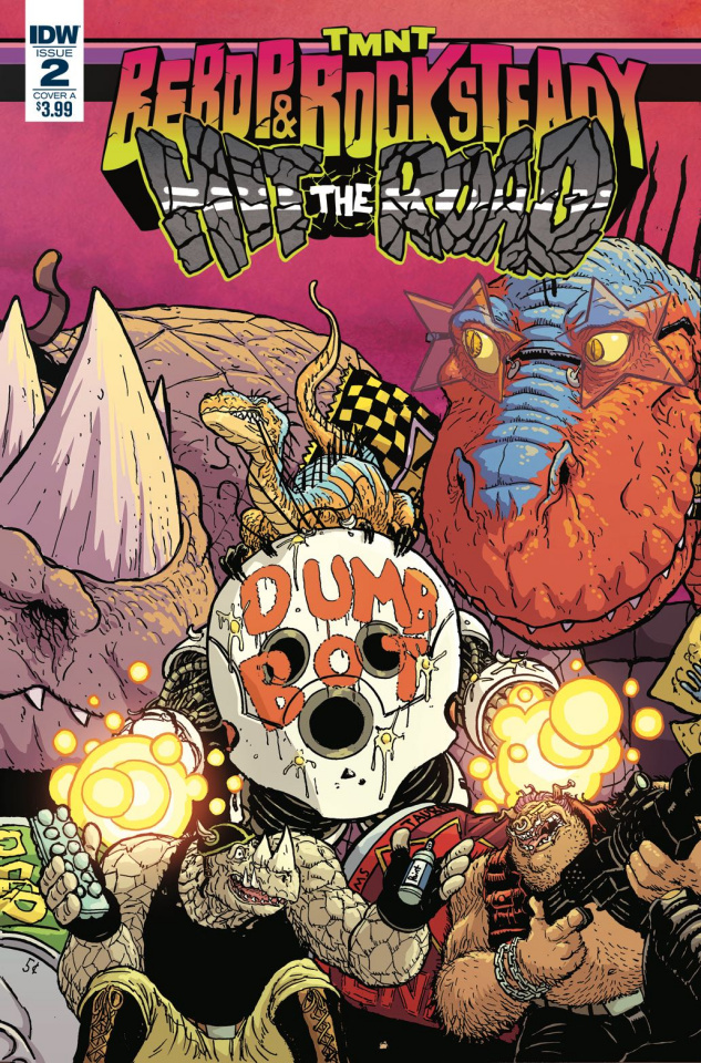 Teenage Mutant Ninja Turtles: Bebop and Rocksteady Hit the Road #2 (Pitarra Cover)