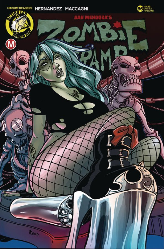 Zombie Tramp #66 (Boo Rudetoons Cover)
