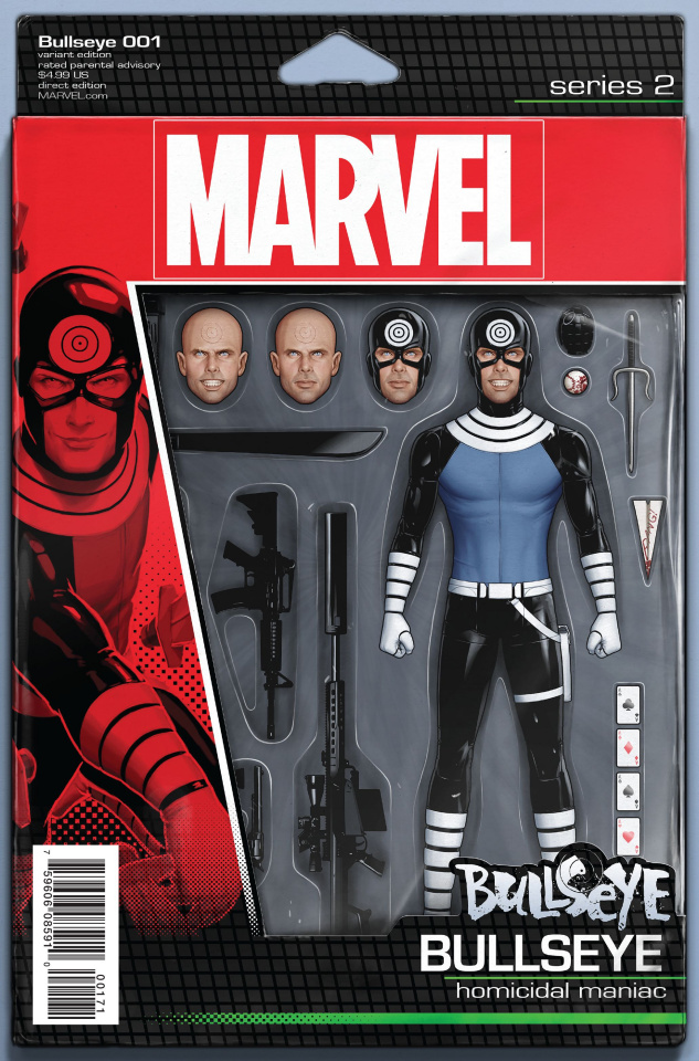 Bullseye #1 (Christopher Action Figure Cover)