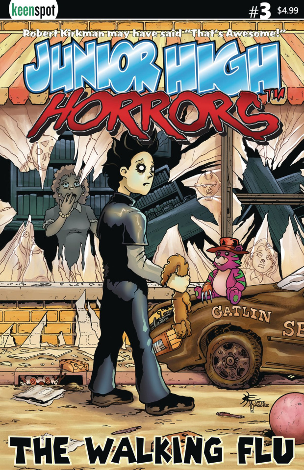 Junior High Horrors #3 (The Walking Flu Cover)