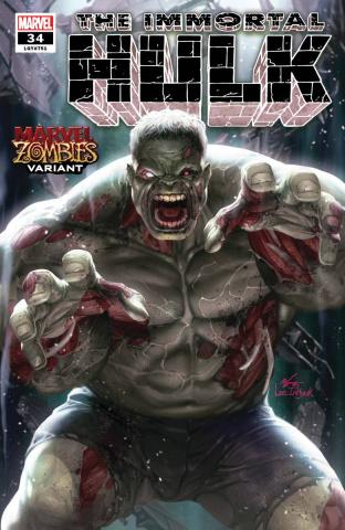 The Immortal Hulk #34 (Inhyuk Lee Marvel Zombies Cover)