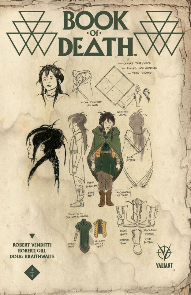 Book of Death #1 (10 Copy Char Design Rivera Cover)