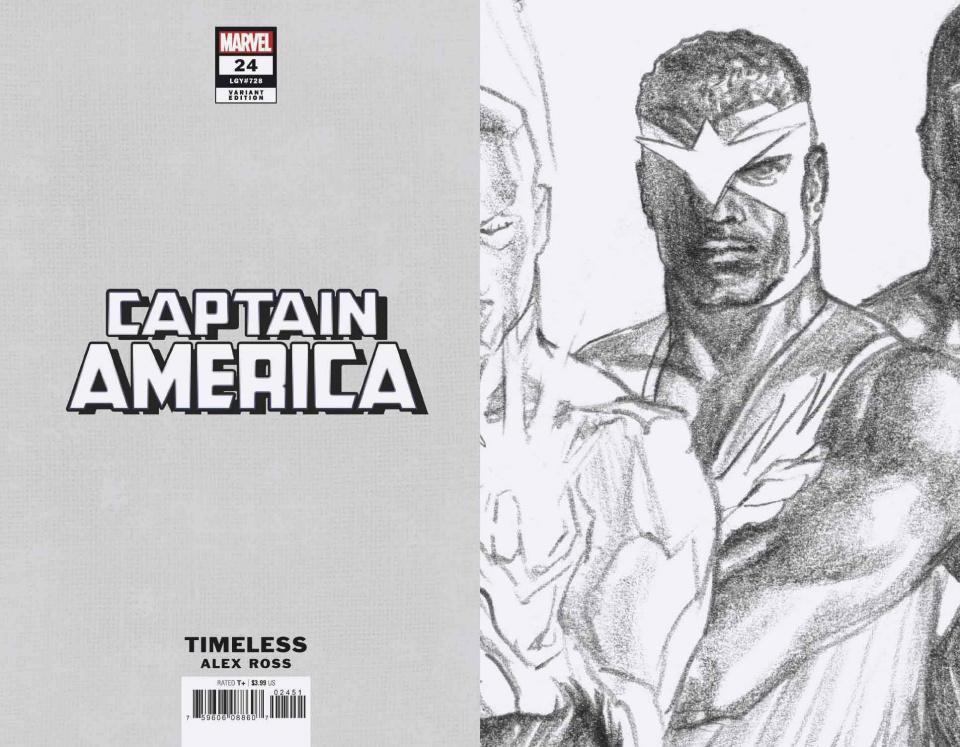 Captain America #24 (Ross Falcon Timeless Virgin Sketch Cover)