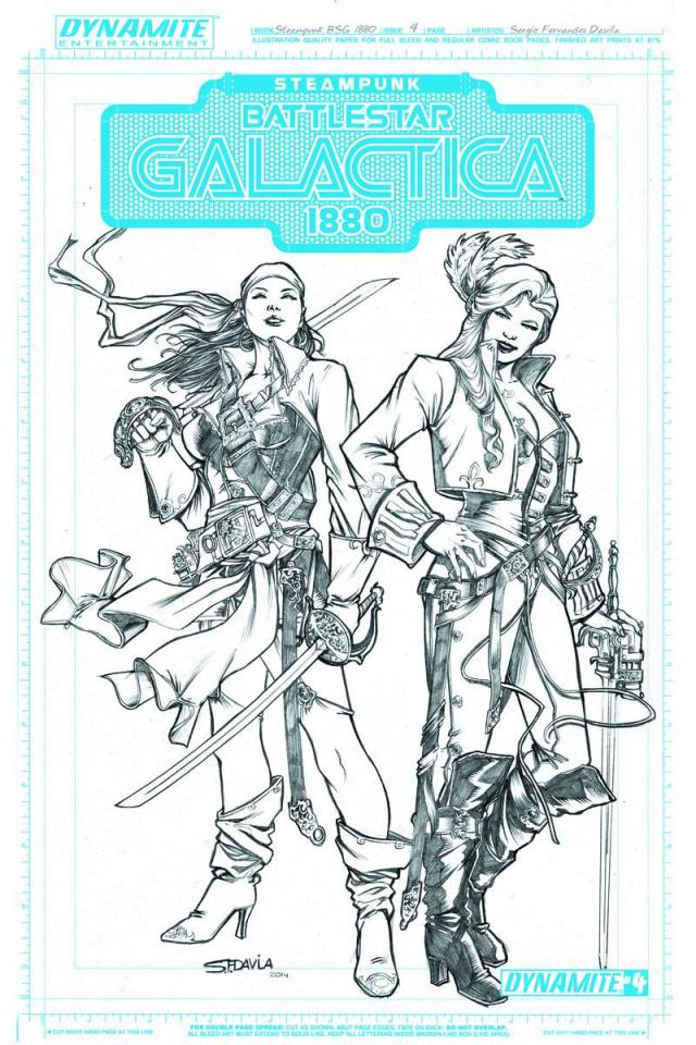 Steampunk Battlestar Galactica: 1880 #4 (20 Copy Concept Art Cover)