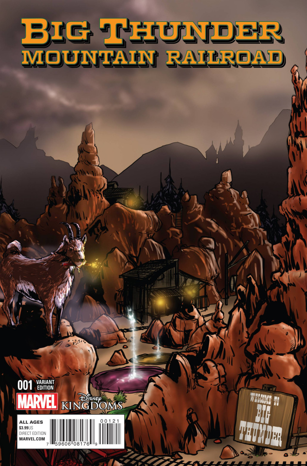 Big Thunder Mountain Railroad #1 (Crosby Connecting Cover)