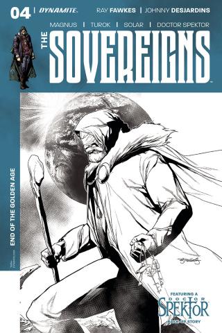 The Sovereigns #4 (20 Copy Segovia B&W Cover)