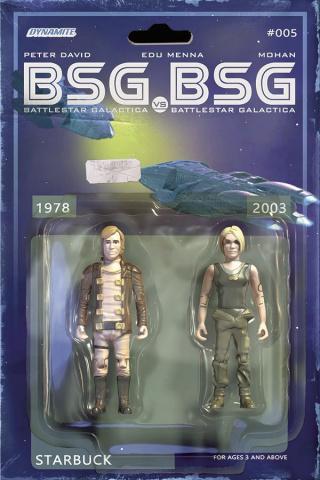 BSG vs. BSG #5 (Michael Adams Starbuck Action Figure Cover)