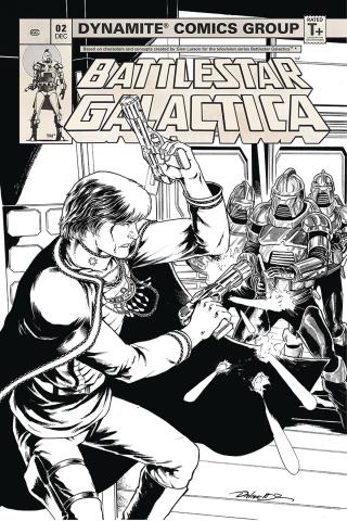 Battlestar Galactica Classic #2 (20 Copy HDR B&W Cover)