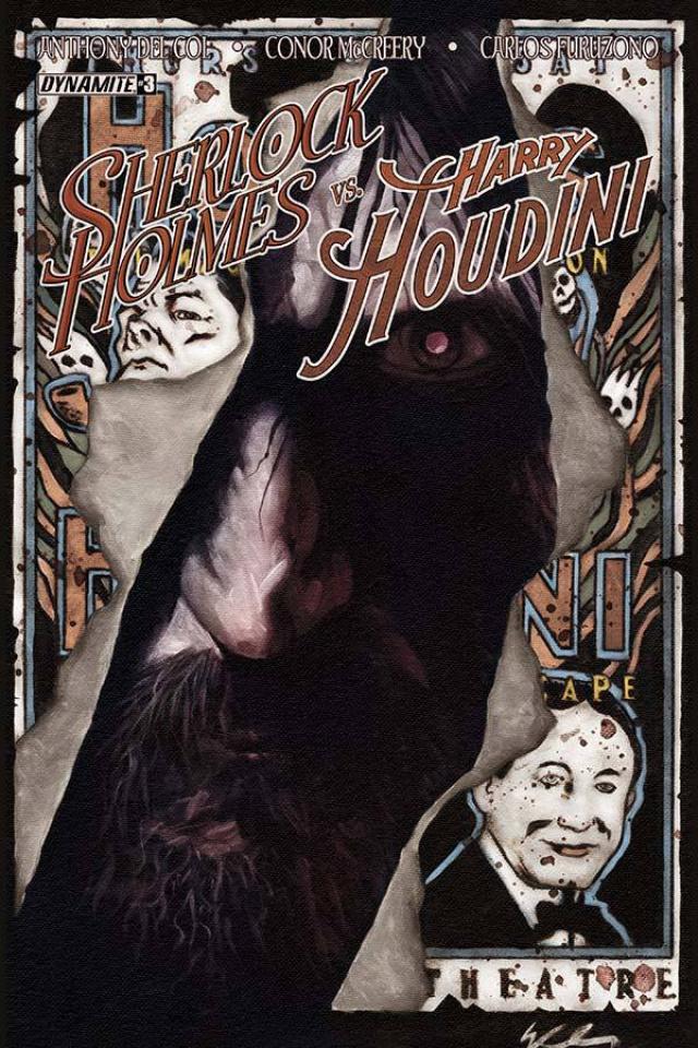 Sherlock Holmes vs. Harry Houdini #3 (Worley Cover)