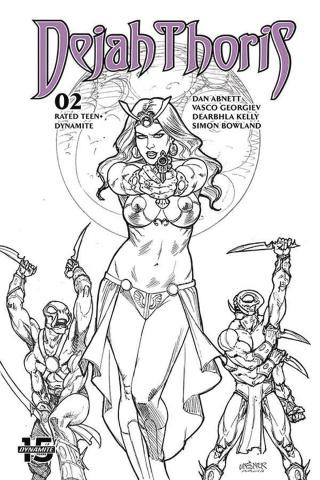 Dejah Thoris #2 )50 Copy Linsner B&W Cover)