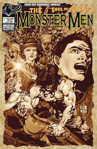 The Monster: Men Soul of the Beast #1 (Pulp Horror Cover)