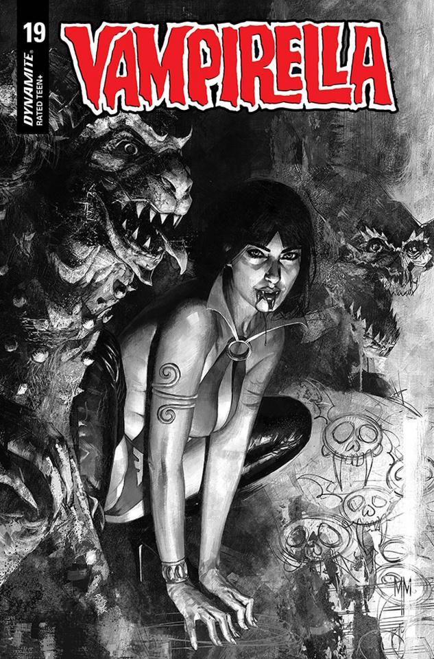 Vampirella #19 (40 Copy Mastrazzo B&W Cover)