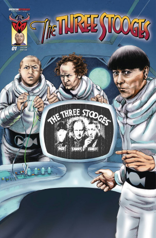 The Three Stooges: The Boys Are Back #1 (Talking Subscription Cover)