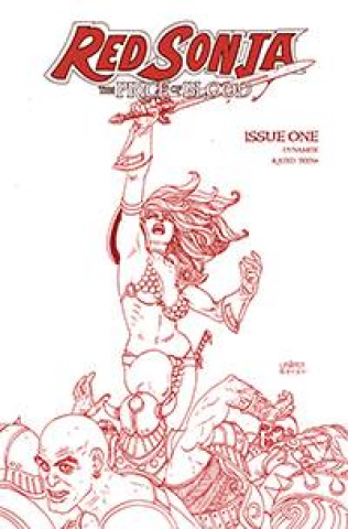 Red Sonja: The Price of Blood #1 (Linsner Crimson Red Line Art Cover)