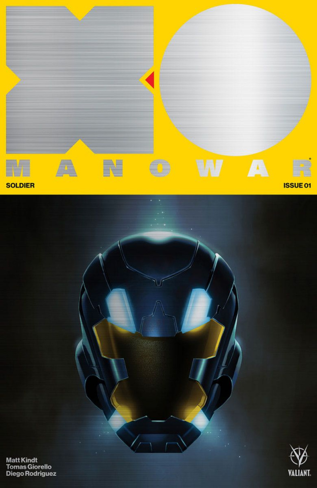 X-O Manowar #1 (500 Brushed Metal Variant Cover)