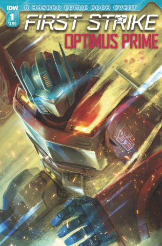 Optimus Prime: First Strike #1 (Pitre-Durocher Cover)