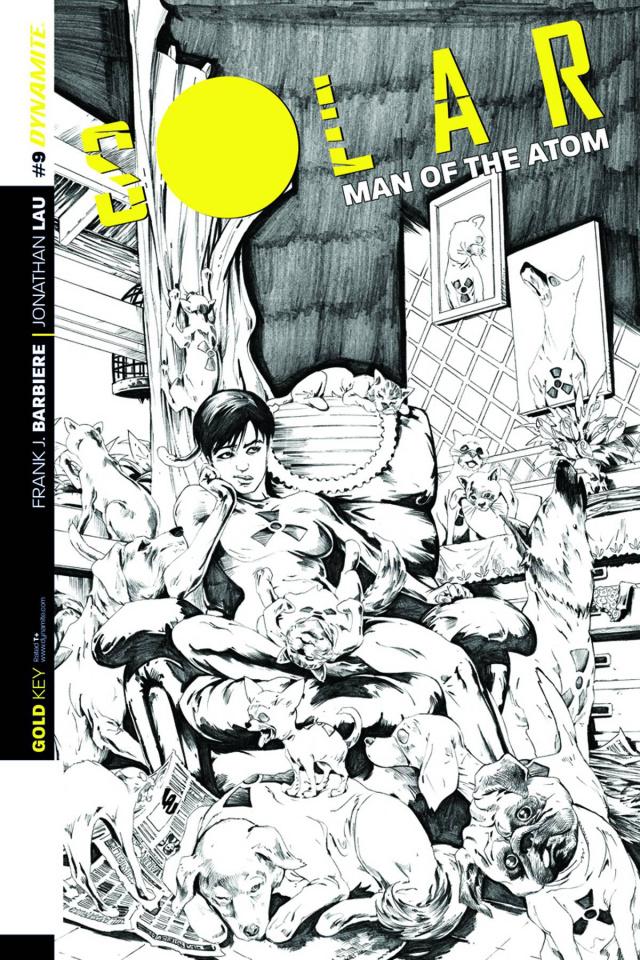 Solar: Man of the Atom #9 (25 Copy Lau B&W Cover)