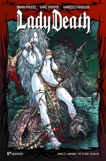 Lady Death #21 (Jurassic Cover)