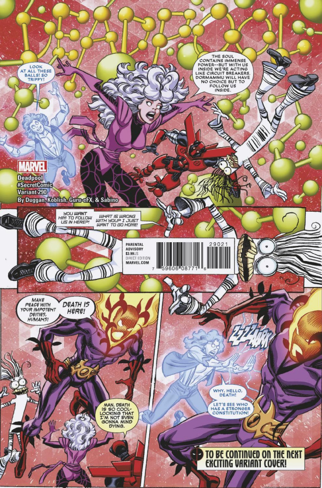 The Despicable Deadpool #290 (Koblish Secret Comic Cover)