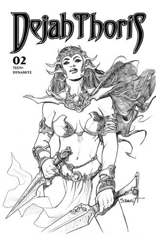 Dejah Thoris #2 (7 Copy Davila B&W Cover)