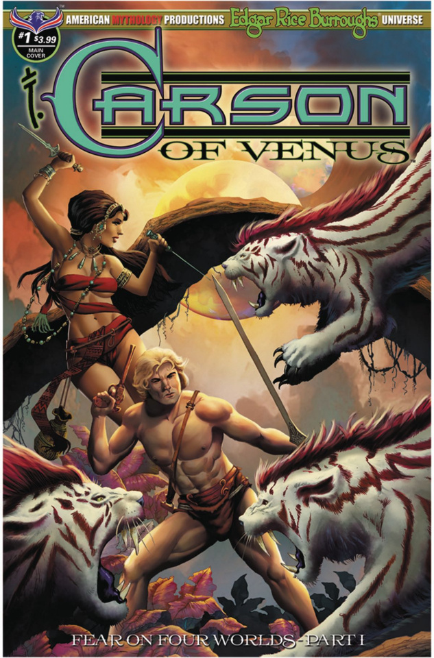 Carson of Venus: Fear on Four Worlds #1 (Pulptastic Cover)