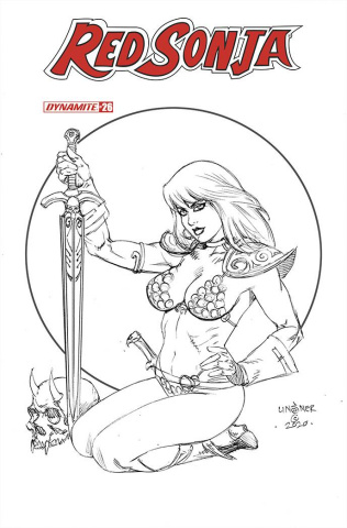 Red Sonja #26 (20 Copy Linsner B&W Cover)